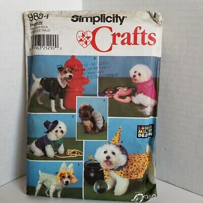 Simplicity 9884 Dog Halloween Coats Costumes Pattern for Small / Medium Dogs](Medium Dog Costumes For Halloween)