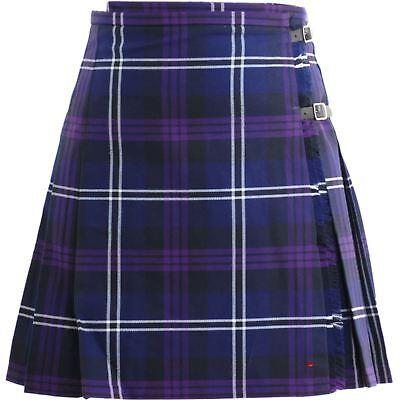 Ladies Deluxe Mini Skirt Kilt Heritage of Scotland Tartan UK 10