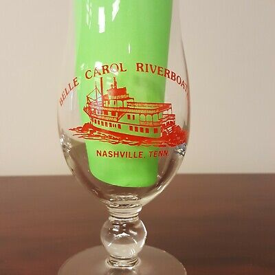 Retired Vintage Belle Carol Riverboat Nashville Tennessee Hurricane Glass B86