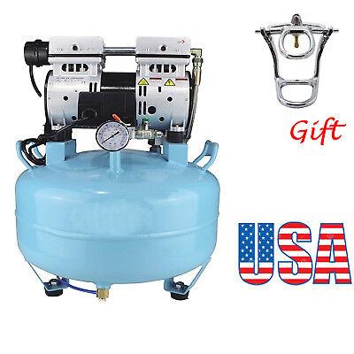 Usps Medical Dental Air Compressor Silent Quiet Noiseless Oil Lab Equipment