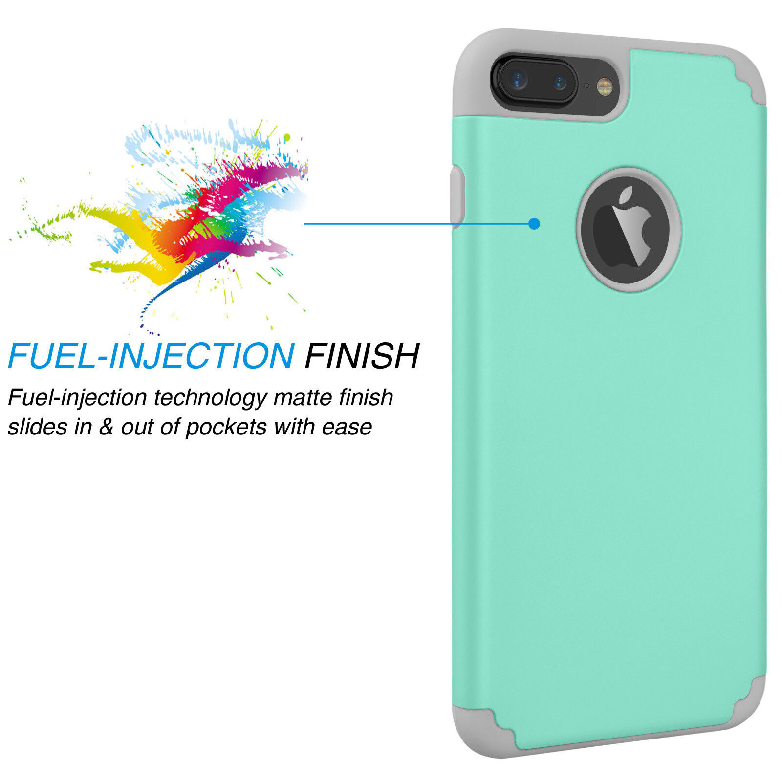 Case For iPhone X 7 8 6S Plus Hybrid Shockproof Rugged Rubber Luxury Cover