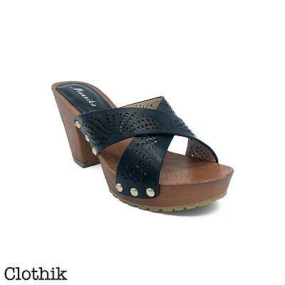 SCARPE DONNA sandali zoccoli zatteroni zeppa zeppe tacchi alti legno ciabatte