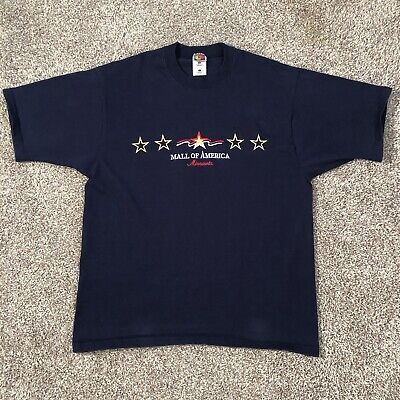 Mall Of America Minnesota T Shirt Embroidered Made In The USA Size (Mall In America)