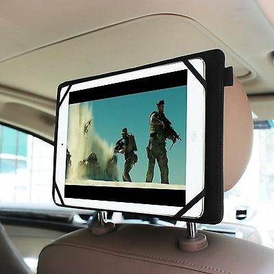 Universal Car Headrest Mount Holder for 7-11 inch Tablets Samsung, iPad, Surface