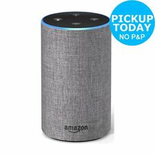 All-new Amazon Echo (2nd Generation) Wireless Alexa Speaker Heather Grey Fabric