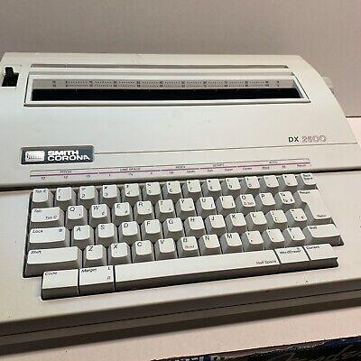 Vintage Smith Corona Dx2600 Script Type Face Portable Electric Typewriter