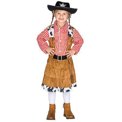 Mädchenkostüm Cowgirl Cowboy Western Wild West Fasching Karneval Rodeo ()