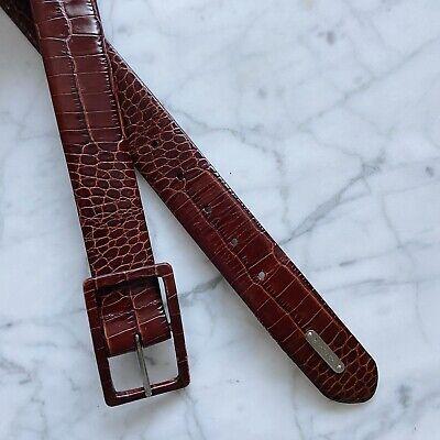 Ralph Lauren Cognac Brown Leather Belt Medium M Alligator Crocodile