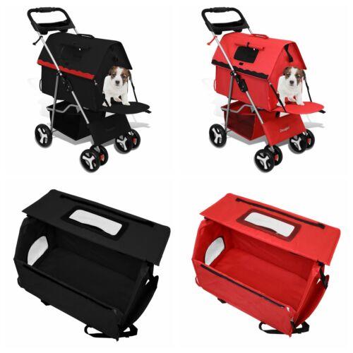2 in 1 Premium Quality Pet Cat Dog Stroller + Carrier Bag Travel Light Weight