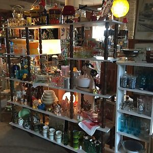 Pyrex, gnomes, records, glassware, swag lamp, jadeite and more!