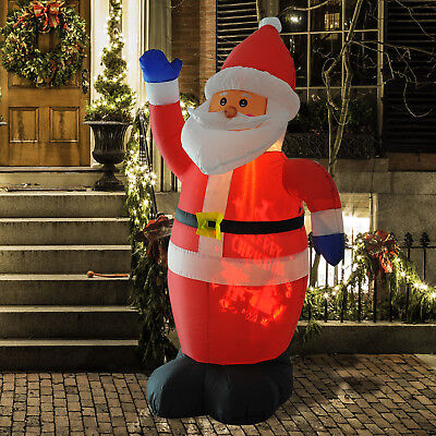 6' Inflatable Santa Claus Lighted Airblown Outdoor Decorations Christmas Decor