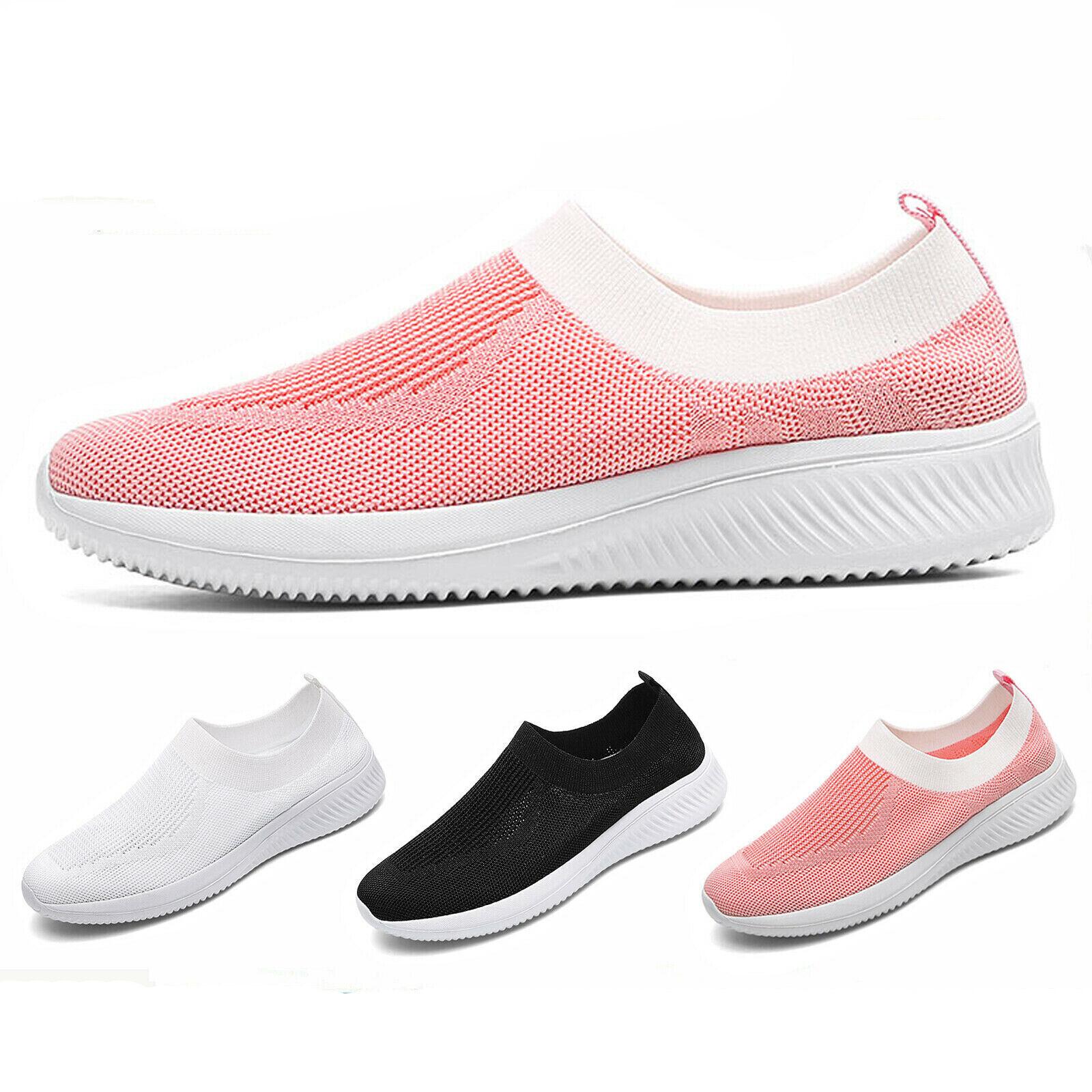 Women's Casual Walking Shoes Sport Slip-On Running Tennis Sn