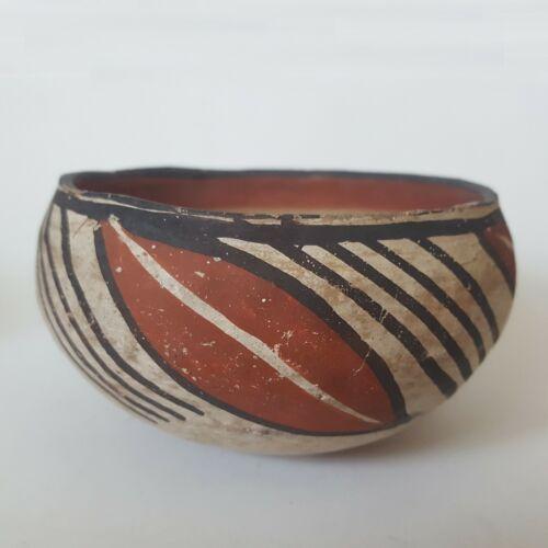 Antique Native American  Isleta Pueblo Pottery Bowl Early 1900s