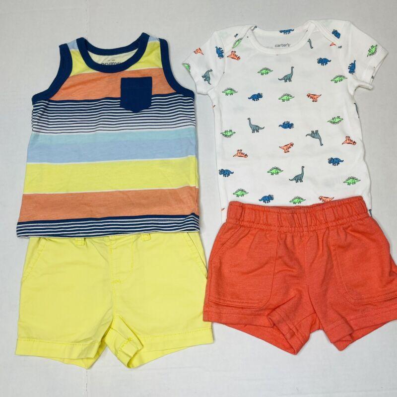 Lot Of 2 Osh Kosh Baby Boy Outfits 6-9 Months Spring Summerdino