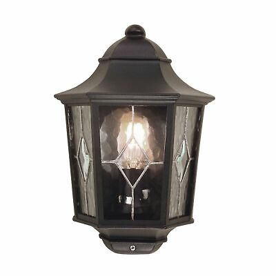 Norfolk Leaded Glass Half Wall Lantern Black. New. Three Available
