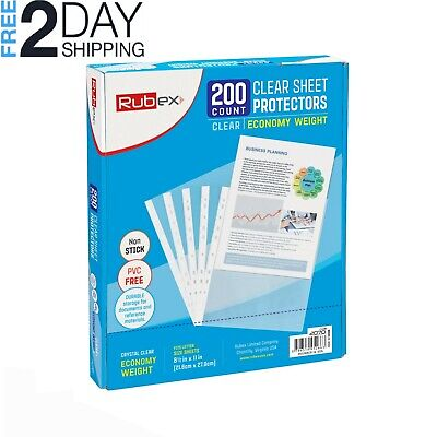 200 Sheet Protectors Holds 8.5 X 11 Inch Sheets