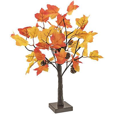 Tree LED Light 24 Leaves Tabletop Fall Home Decor Home & Garden