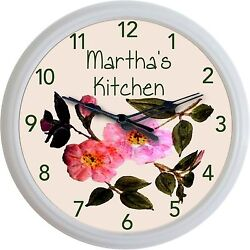 Franciscan Desert Rose Wall Clock Custom Personalized Kitchen Image New 10