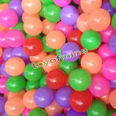 200 pcs Baby Kid Pit Toy Game Swim Pool Soft Plastic Ocean Ball 5.5cm US Stock