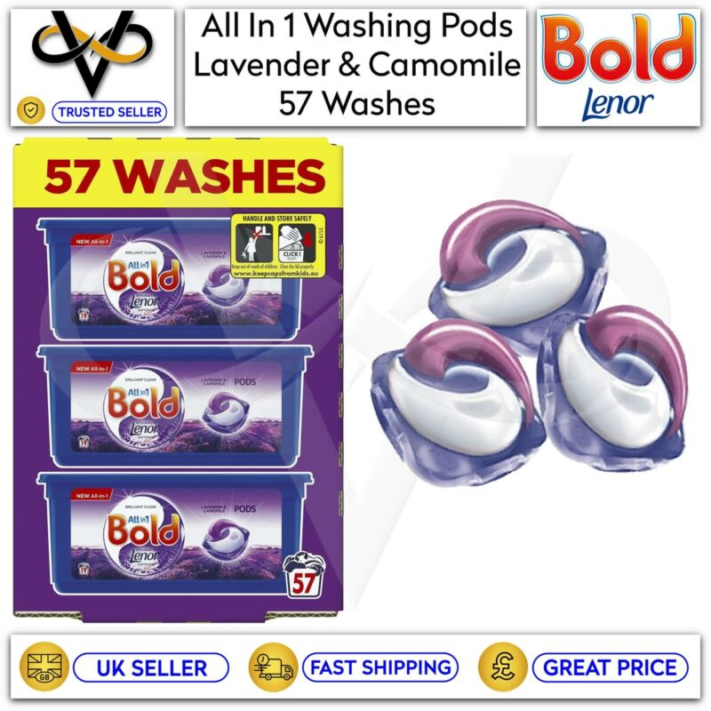 Bold All In 1 Pods Lavender & Camomile Washing Liquid Capsules 57 Washes