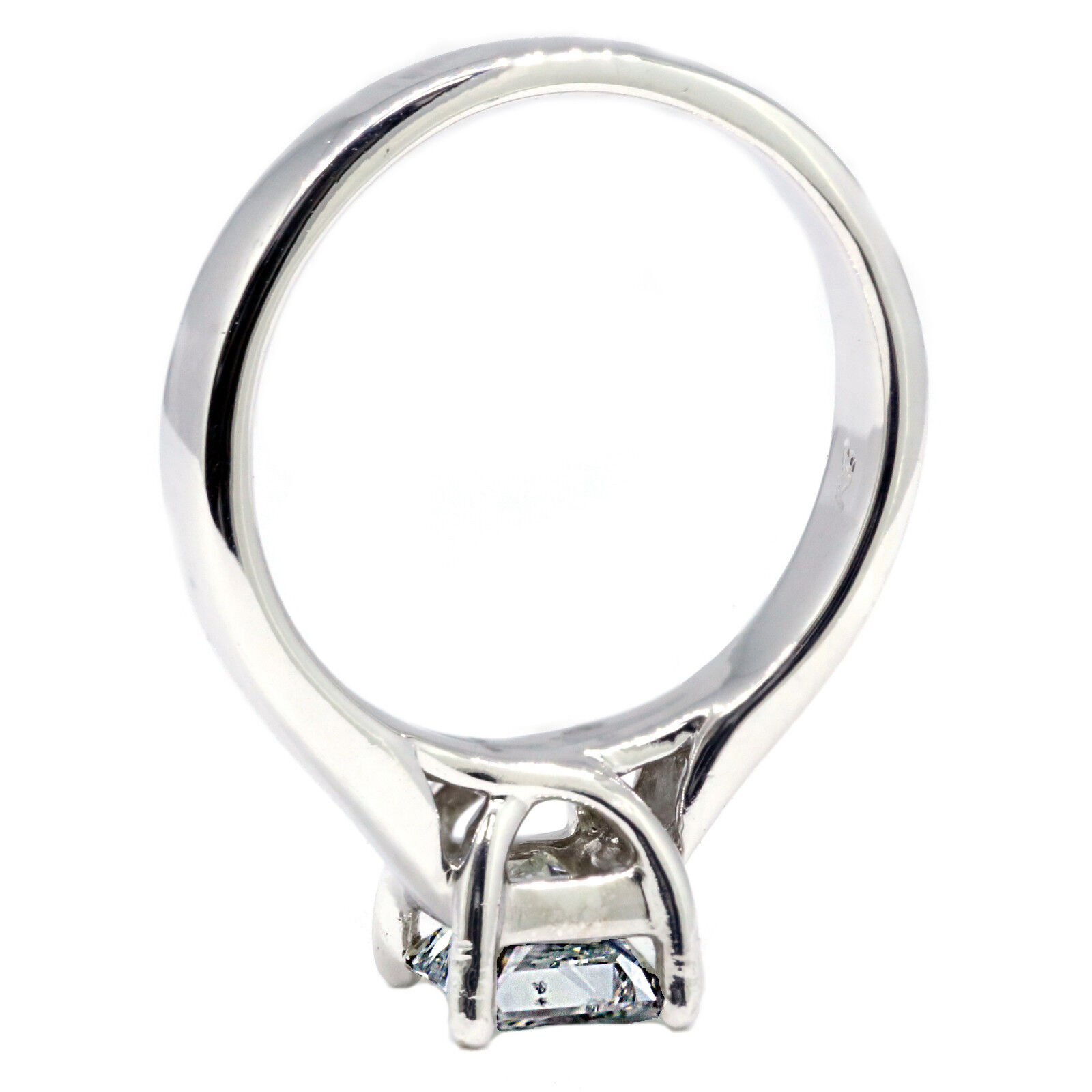 GIA Certified 0.70 ct Princess Cut Diamond Solitaire Engagement Ring F SI1 2