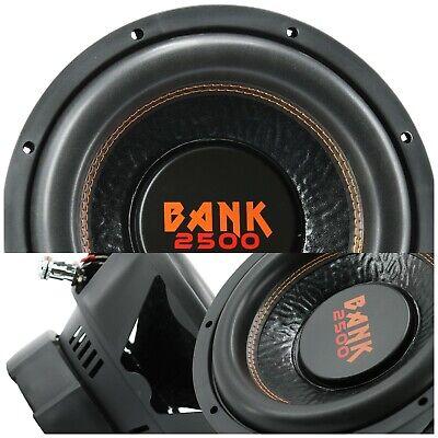Audiobank 12 ίντσας 2500 Watt Subwoofer αυτοκινήτου ήχου w/ 4 Ohm DVC Ισχύς 12 'Sub X1