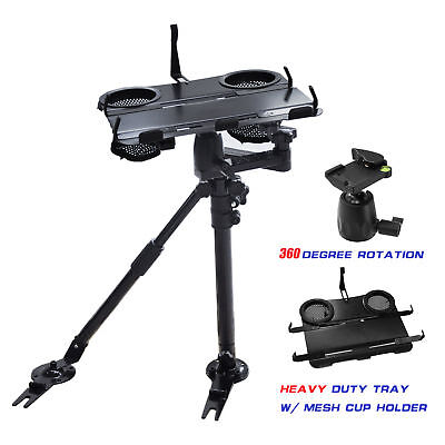 Adjustable Car Vehicle Laptop PC Tablet Mount Stand w/Aluminum Supporting Arm