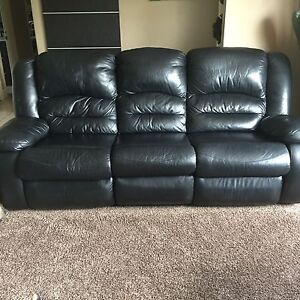 Leather recliner sofa and recliner love seat