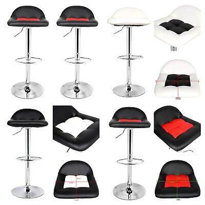 Modern Set Of 2 Bar Stools Adjustable Swivel 360 Bar stool Back Rest Foot Rest