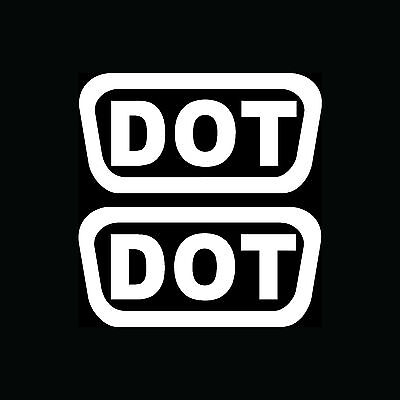 2x DOT Stickers Helmet Vinyl Decals Pack Shipping D.O.T. Motorcycle Bike Replace Bike Helmet Replacement
