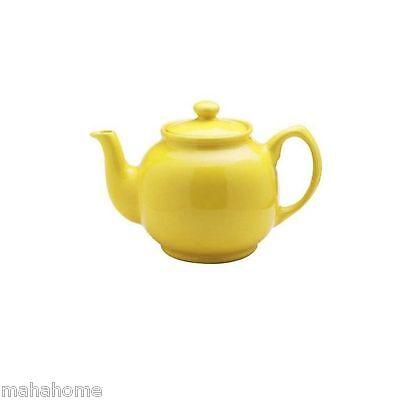 Price & Kensington Large Brights Ceramic Teapot Plain Colour Tea Coffee Pot Gift