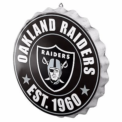 Oakland Raiders Bottle Cap Sign - Est 1960 - Room Bar Decor NEW 13.5