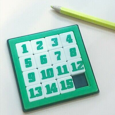 15 Number PUZZLE SLIDE TOYS. Fun brain training game for kids & adults.1 pec - Number Games For Adults