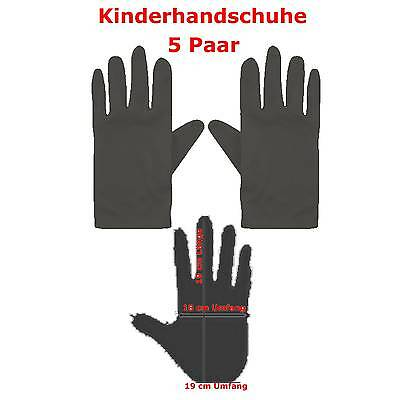 �r Kinder schwarz 19 cm Umfang Fasching Handschuhe (Schwarze Handschuhe Für Kinder)