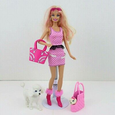 Barbie My Glam Pets Doll With Poodle, Small Dog & Accessories - Partial Set