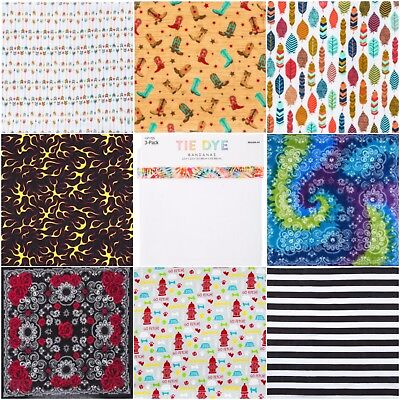 Print Bandanas (Various Printed Bandanas 22x22 Various Styles! New Styles Added! Free)