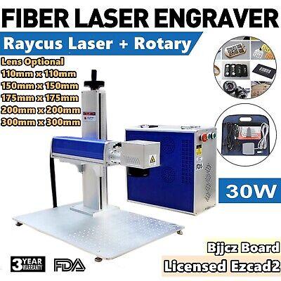 30w Split Fiber Laser Marking Machine Engraving Engraver Machine Rotary