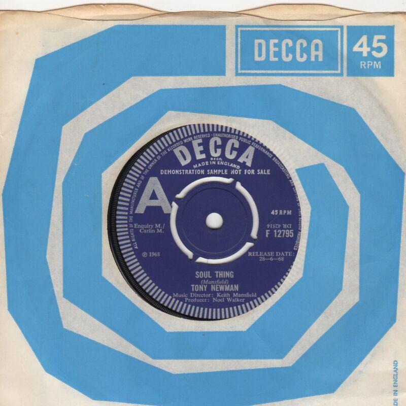 Tony Newman Soul Thing Decca Demo F12795 Soul Northern motown