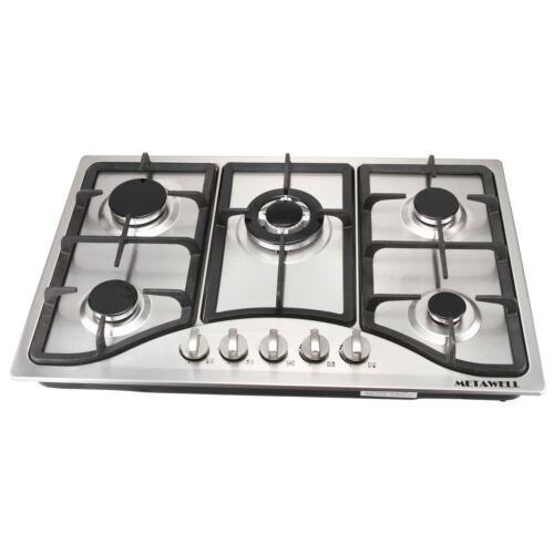 "30"" 5 Burner Built-In Stoves Gas Kitchen Hob Stainless steel"