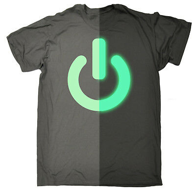 er Switch Button MENS T-SHIRT funny birthday on off (Glow In The Dark Buttons)