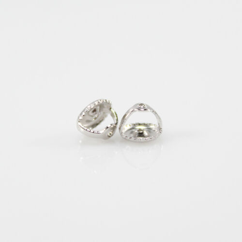 Earrings Nut Back, Screw Back, Sterling Silver 925, Rhodium Plated