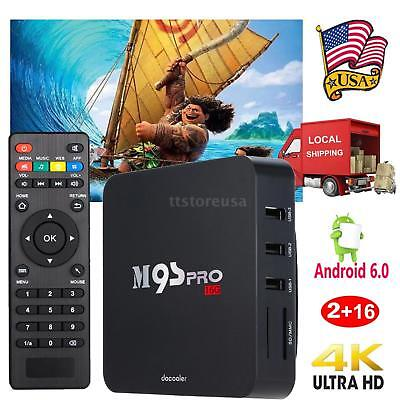 M9S Pro 4K Android 6.0 S905X Quad Core 2G/16G TV Box Streaming WIFI Media Player