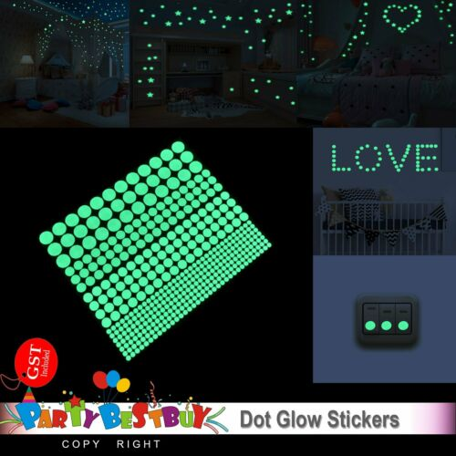 Home Decoration - 814pcs Dot Luminous Star Wall Stickers Home Room Decor Glow In The Dark Decal AU