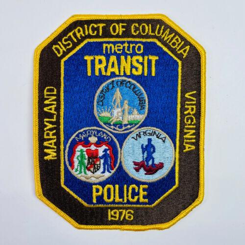 Metro Transit Police Maryland Washington DC Virginia Patch (A)