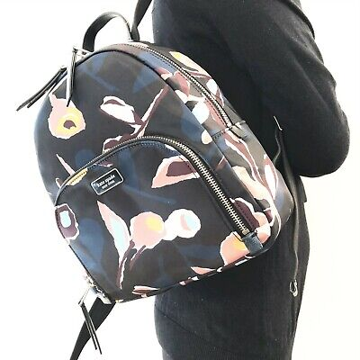NWT Kate Spade Dawn Paper Rose Medium Backpack Shoulder Bag WKRU5997 Blackmulti
