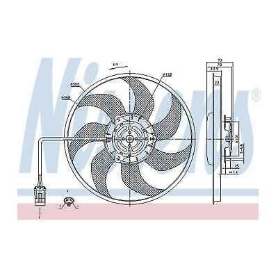 Genuine Nissens Engine Cooling Radiator Fan - 85194
