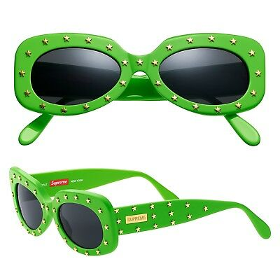 Supreme Sunglasses Royale Lime Green Studded SS18 Deadstock Mens Womens Shades ()