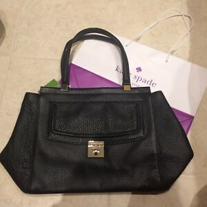 Brand new Kate spade black leather tote