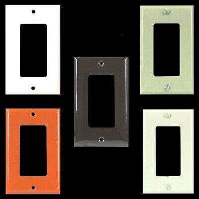 ENERLITES 1 Gang Receptacle Outlet Cover Decorator Wall Plate GFCI Gloss Finish Gang Receptacle Wall Plate