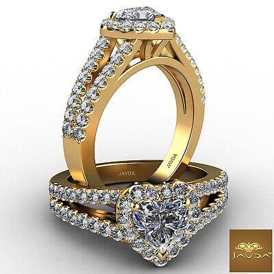 Classic Heart Diamond Prong Set Engagement Ring GIA G VS1 18k Yellow Gold 1.25Ct